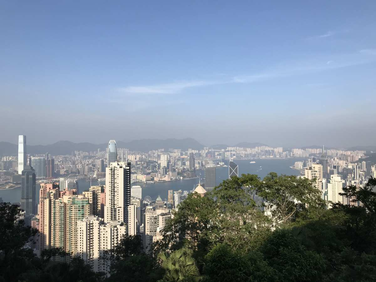 The view of Hong Kong from up on Victoria Peak