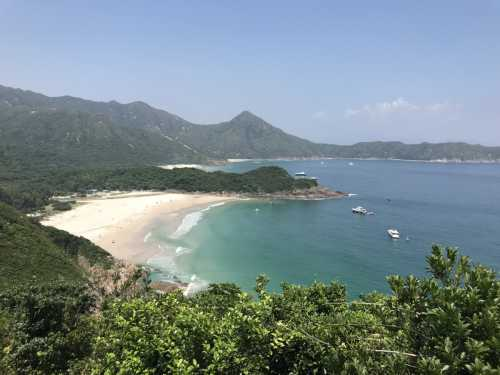 View of the beach of Tai Long Wan in Hong Kong